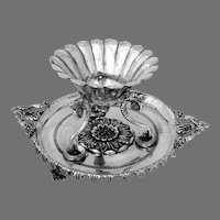 Spanish Colonial Braserillo Cigar Lamp Coin Silver Mono ZY