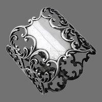 Openwork Scroll Motif Napkin Ring Sterling Silver