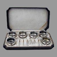 Raspberry 6 Open Salt Cellars Set Webster Sterling Silver Boxed