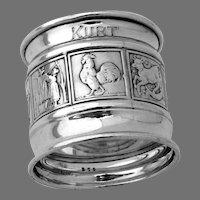 Mother Goose Nursery Rhyme Napkin Ring Gorham Sterling Silver Kurt