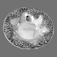 Repousse Serving Bowl No 15 Kirk Son Co Sterling Silver