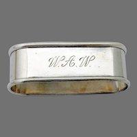 Oval Napkin Ring Blackinton Sterling Silver Mono WAW