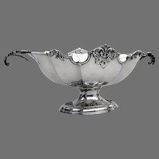 Italian Ornate Footed Centerpiece Bowl Ricci 800 Silver 1960s