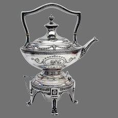 Adam Kettle Stand Burner Set Shreve Sterling Silver 1909 Mono MPB