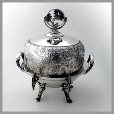 Aesthetic Ornate Covered Butter Dish Pairpoint Silverplate