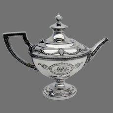 Adam Teapot Shreve Sterling Silver 1909 Mono MPB