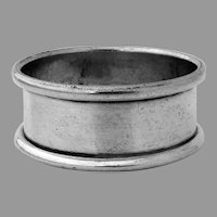 English Narrow Napkin Ring Trevitt Sons Sterling Silver 1912 No Mono