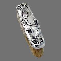Queen Of The Flowers Clothes Brush Unger Bros Sterling Silver 1903