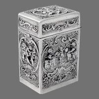 Hanau Squared Box Double Compartment 800 Silver Germany