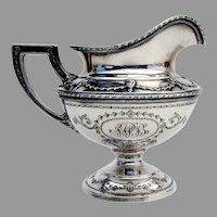 Adam Large Creamer Shreve Sterling Silver 1909 Mono MPB