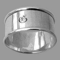 Plain Napkin Ring Webster Sterling Silver Mono G