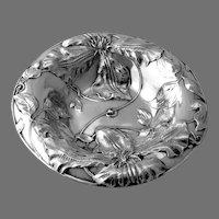 Ornate Floral Design Bowl Alvin Sterling Silver