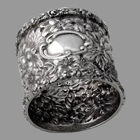Stieff Repousse Napkin Ring Sterling Silver No Mono