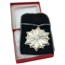 Gorham 1993 Christmas Snowflake Ornament Sterling Silver