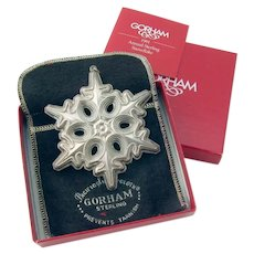 Gorham 1991 Christmas Snowflake Ornament Sterling Silver