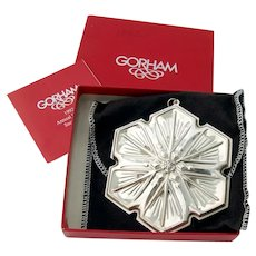 Gorham 1992 Christmas Snowflake Ornament Sterling Silver