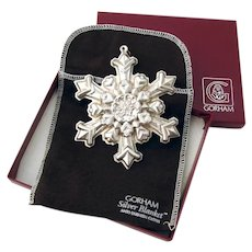 Gorham 1995 Christmas Snowflake Ornament Sterling Silver