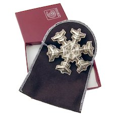 Gorham 1977 Christmas Snowflake Ornament Sterling Silver