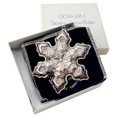 Gorham 1975 Christmas Snowflake Ornament Sterling Silver