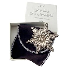 Gorham 1970 Christmas Snowflake Ornament Sterling Silver