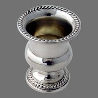 Cigarette Urn Vase Gadroon Borders Watson Sterling Silver