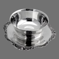 Wallace Baroque Bowl Attached Underplate No 247 Silverplate