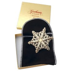 Gorham 1983 Christmas Snowflake Ornament Sterling Silver