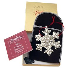 Gorham 2003 Christmas Snowflake Ornament Sterling Silver