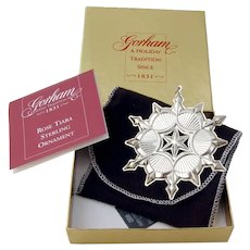 Gorham 2006 Christmas Snowflake Ornament Sterling Silver