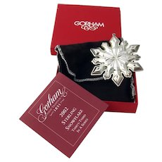 Gorham 2002 Christmas Snowflake Ornament Sterling Silver