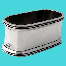 Oval Napkin Ring Lutz Weiss 835 Silver West Germany