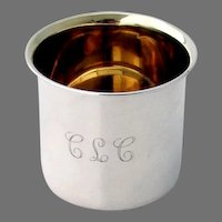 Small Baby Cup Towle Sterling Silver Mono CLC