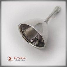 Vintage Tea Bell Hexagonal Handle Sterling Silver 1885