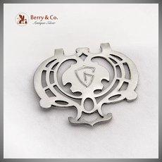 Vintage Openwork Ornate Napkin Clip Lunt Sterling Silver