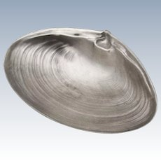 Small Clam Shell Form Serving Bowl Ball Feet Wallace Sterling Silver