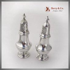Colonial Revival Salt Pepper Shakers Set Gorham Sterling Silver
