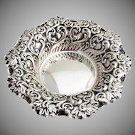 Art Nouveau Repousse Scroll Bowl Shiebler Sterling Silver 1900