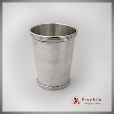 Banded Julep Cup International Silver Co Sterling Silver 1940