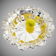 Gorham Centerpiece Bowl Applied Floral Scroll Rim Sterling Silver 1900