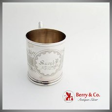 Aesthetic Engraved Baby Childs Cup Whiting Mfg Co Sterling Silver