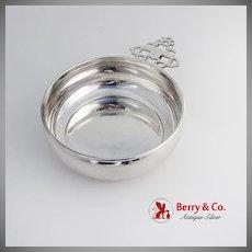 Gorham Porringer Baby Feeding Bowl Keyhole Handle Sterling Silver 1960