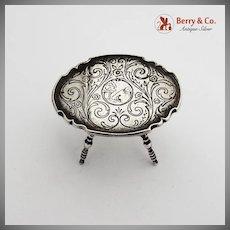 Ornate Engraved Miniature Gate Leg Table Dutch Silver 1900