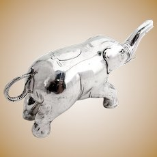 Rare Figural Elephant Creamer Hanau Sterling Silver Germany 1909