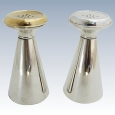 Gorham Salt Pepper Shakers Pair Gilt Top Sterling Silver