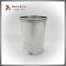 Vintage Julep Cup Beaker Banded Rim Base Manchester Silver Co Sterling Silver