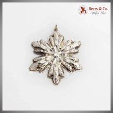 Gorham Snowflake Christmas Ornament Sterling Silver 1974
