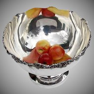 Large Punch Bowl Applied Grape Decorations American Silverplate 1950
