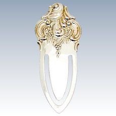 Grande Baroque Repousse Bookmark Wallace Sterling Silver