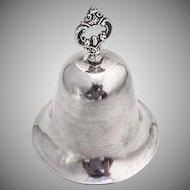 Vintage Dinner Bell Ornate Handle Sterling Silver 1950 Colombia