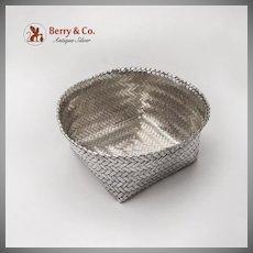 Mexican Weave Basket Alfredo Villasana Sterling Silver Taxco